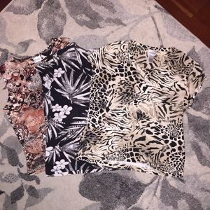 💛 2/$25 💛 (3) Chico's Short Sleeve Tops